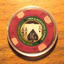 "$5. Par-A-Dice Casino Chip ""Limited Edition"" - Live Poker - 1 Of Only 5000"