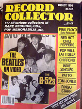 Record Collector Aug 1990 - The Beatles, The B-52s, Red Hot Chili Peppers