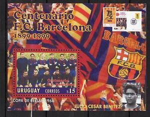 Barcelona FC 100th years Barça Soccer football URUGUAY Sc#1798 MNH STAMP S/S