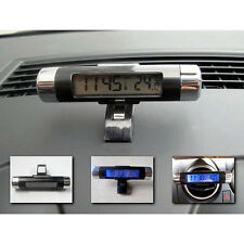Clip-on Digital LCD Thermometer+Clock For Car Bicycle Motorcycle Auto Moto Truck