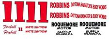 #11 Fireball Roberts Roquemore Motor Supply 1/64th HO Scale Slot Car Decals