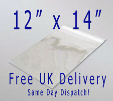 "100 Cellophane Clear Self Seal With Flap! 12"" x 14"" Large Peel & Seal Bags!!!"
