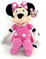 Clubhouse MINNIE MOUSE Soft PLUSH DOLL Toy LARGE PINK Gift Licensed DISNEY