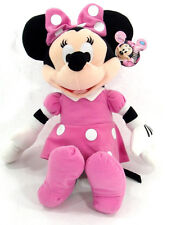 "Licensed DISNEY  Clubhouse MINNIE MOUSE Soft PLUSH DOLL Toy 15"" PINK GreatGift"