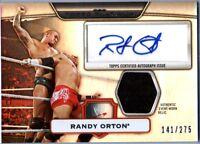 WWE Randy Orton 2010 Topps Platinum Autograph Relic Shirt Card SN 141 of 275
