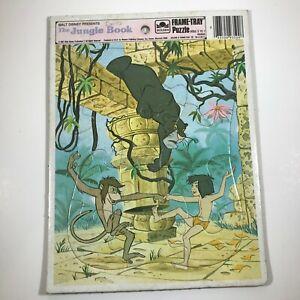 Vintage Walt Disney Jungle Book Frame Tray Puzzle 1967 4540A