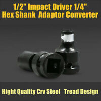 "1/2"" Impact Driver 1/4"" Hex Shank Quick Release Bit Socket Adaptor Converter"