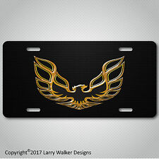 Firebird Trans Am Formula Acrylic look on Black Aluminum License Plate Tag New