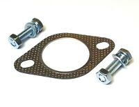 """Reinforced 2 Bolt Exhaust Flange Gasket Decat Downpipe 2.25"""" 57mm with Bolts"""