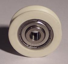 32 mm U scanalatura Ruota in Nylon Con Acciaio Inossidabile Cuscinetti per BNL 10