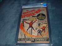 AMAZING SPIDER-MAN #1 / MARCH, 1963 / CGC 2.0 /  KEY MARVEL COMIC / BEAUTIFUL !!
