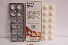 Villaware Ravioli Maker / Tray 5400 2-Pc w/ Box & Recipes Makes Two 12'' Square