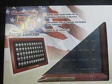 56 State Quarter collection Wood Frame for desk or hanging Great hobby for kids
