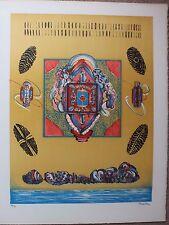 Guy ROUSSILLE Lithographie signée numérotée Mexique Surealism surréalisme 1975