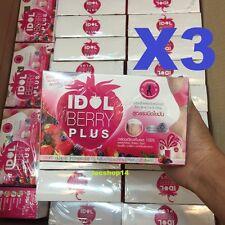 3pcs Idol Slim Berry Plus Fruit Drinks Weight Loss Burn Fat Whitening skin