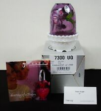 Fenton, Fairy Light, Violet Glass, Hand Decorated, Limited Edition.7300 UQ MIB