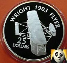 2003 Isole Salomone $25 DOLLARI 1903 Wright Flyer fine .999 argento Proof Coin