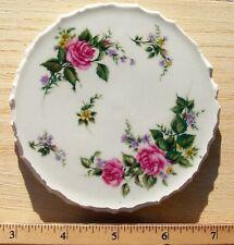Broken Cut China Plate Round Mosaic Tile, Roses Hand-cut Circle Tiles