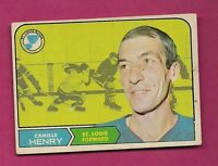 1968-69 OPC # 116 BLUES CAMILLE HENRY VG CARD  (INV#5197)