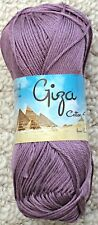 King Cole Giza 100 Egyptian Mercerised Cotton 4 Ply Knitting/ Crochet 50g Ball 2199 Plum