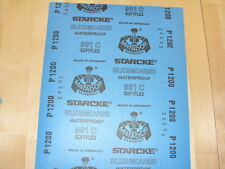 Starcke Matador Wet and Dry Sandpaper. C Weight 1 Pk of 10 sheets. P1200 (Grit)