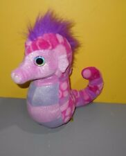 "Wild Republic 12"" Cuddlekins Pink & Sparkle Seahorse Bean Plush w/ Heart Eyes"