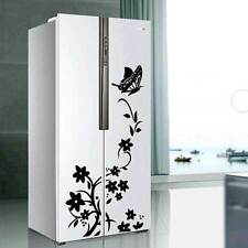 Adesivo sticker frigorifero decorazione wall parete FIORI FARFALLA 60x35cm frigo