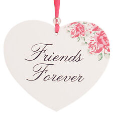 Friends Forever Hanging Posies Friendship Heart Wall Plaque