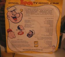 Popeye Official Tv Record Album King Features 78 Rpm