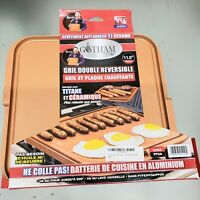 """Gotham Steel Nonstick Copper Reversible Double Grill & Griddle 11.5"""" BRAND NEW!"""