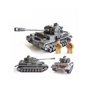 Superbe char Tigre Allemand WW2 Tank Panzer IV 1193 pièces