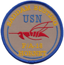 US Navy USN McDonnell Douglas F/A-18 Hornet Saddam Busting Embroidered Patch