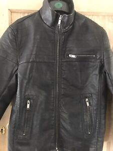 Mens Firetrap Faux Leather Jacket Size M