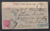 Cape of Good Hope 1902 BOER WAR Censored POSTAGE DUE Cover to Germany