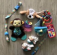 Lot of Baby Toys Developmental Teething Rattles Plush Pacifier Clip Toy Holder