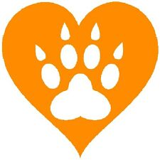30 Custom Orange Paw Print Heart Personalized Address Labels