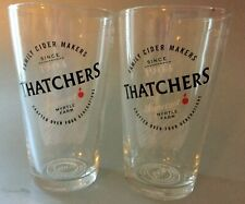2 x Thatchers  -HALF PINT-  Glasses Brand New, 100% CE Stamped