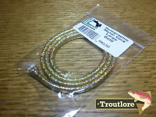 GOLD HOLOGRAPHIC MYLAR CORD LARGE - NEW HARELINE DUBBIN HOLO FLY TYING MATERIAL