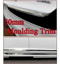 5M Car Chrome Trim Auto Door Bumper Side Mouldings Strip Self-Adhesive 50mm DIY