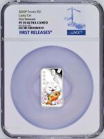 "2020 Lucky Cat ""ラッキーな猫"" ""招財貓"" 1oz Silver Proof Rectangle Coin NGC PF 70 FR"