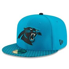 Carolina Panthers New Era 59 Fifty NFL Sideline Fitted Hat Cap Light Blue 7 1/2