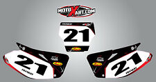 Custom number Plates for Honda CR 125 2002 - 2005  BARBED STYLE stickers
