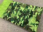 1 New Standard Size 100% Cotton Handmade Pillowcase Cannabis Camouflage