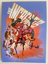 "Disney WONDERGROUND Postcard ""An Incredible Rush"" THE INCREDIBLES by Campbell"