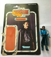 Star Wars Vintage Lando Calrissian COMPLETE with RARE CARDBACK PLASTIC BACKING!!