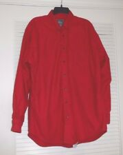 Woolrich Men's Red Chamois Shirt Size Large (L) With 1 Flaw