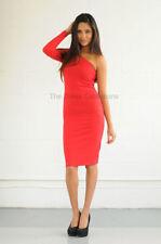 Vestiti da donna rosse con monospalla