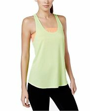 New IDEOLOGY Women's Striped Sizzling Lime Tank Top Gym Yoga Active Size XLarge