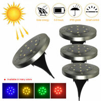 8pcs LED Solar Lights Waterproof Under Ground Garden Lawn Deck Path Yard Outdoor