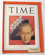 Vintage Time Magazine January 22 1945 Back Issue Harry Hopkins Cover Weekly News